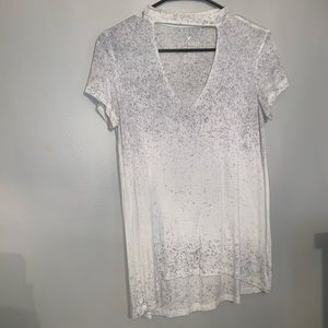 Gray and white ombré top
